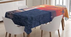 Ruhiger Abend Segeln Tischdecke