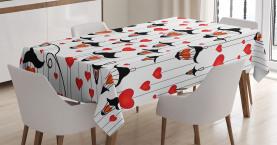 Laternen und Herzen Tischdecke