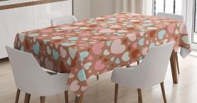 Festliches romantisches Herz Tischdecke