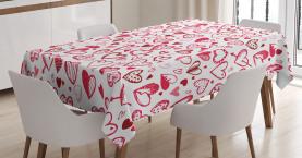 Valentine Herzen Pfeil Tischdecke