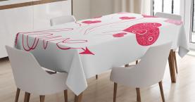 Liebes-Ikonen-Herz-Ballone Tischdecke