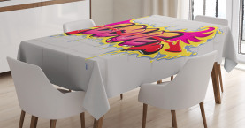 Liebes-Zitat auf Ziegelstein Tischdecke