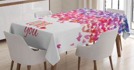 Herzen lieben Frühling Tischdecke