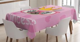Glückliche Prinzessin Cat Tischdecke