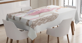 Prinzessin auf weißem Pferd Tischdecke