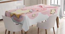 Kaninchen-Häschen mit einem Stern Tischdecke