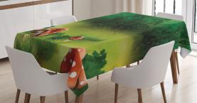 Wildes magisches Wunderland Tischdecke