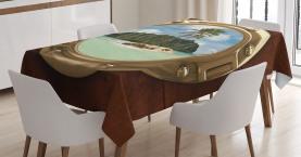 Ansicht der einsamen Insel Tischdecke