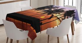 Sonnenuntergang auf Big Island Tischdecke