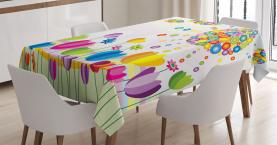 Abstrakter Blumen-Sommer Tischdecke