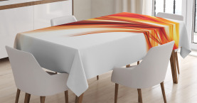 Modern  Tablecloth Abstract Smooth Lines Printed Table Cover