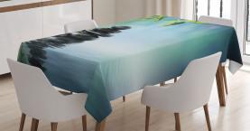 Hibiskus-Bambus auf Wasser Tischdecke