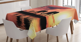 Africa  Tablecloth Safari Wild Animals Printed Table Cover