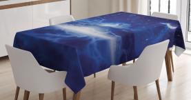 Nachthimmel Mond Sterne Tischdecke