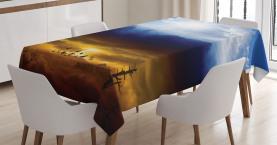 Sun Stormy Himmel Himmel Tischdecke
