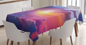 Sonnenuntergang Himmel und Wolken Tischdecke