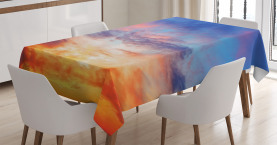 Sonnenuntergang Wolkengebilde Himmel Tischdecke