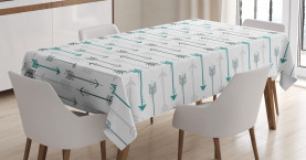 Retro  Tablecloth Arrow Pattern Horizontal Printed Table Cover