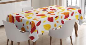 Saisonale Herbstblätter Tischdecke