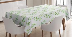 Symmetrische Olivenblätter Tischdecke