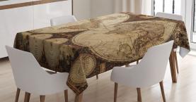 Historischer alter Atlas Tischdecke