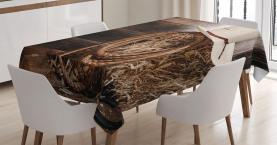 Wooden Folk Robe Hat Tablecloth
