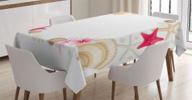 Seashells-Blumen-Stern Tischdecke