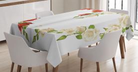 Herz-Blumenstrauß Romantisch Tischdecke