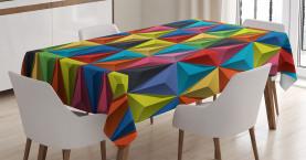 Geometrische Dreiecke Tischdecke