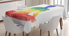 Kunstvolle Motive Regenbogen Tischdecke