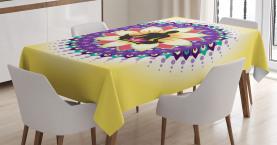 Runde Kreis Lotus Icon Tischdecke