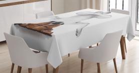 Hund auf den Kopf entspannen Tischdecke