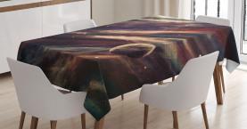 Nebel-Planet-Wolke Tischdecke