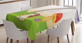 Häschen-Osterei-Kinder Tischdecke