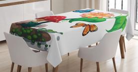 Blumen Schmetterlinge Tischdecke