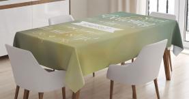 Gelbe inspirierende Buchstaben Tischdecke