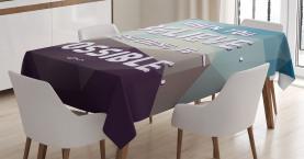 Modernes polygonales Design Tischdecke