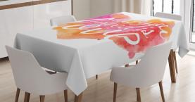 Aquarell Splash Kunstvoll Tischdecke