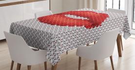 Stickerei-Effekt Lippen Tischdecke