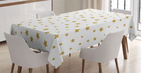 Gelbe Sterne Muster Tischdecke