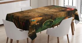 Rustikale Lodge Holz Tischdecke