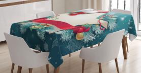 Santa Star Schneeflocke Tischdecke
