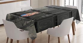 Music  Tablecloth Digital Rock Guitar Printed Table Cover