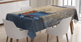 Wizard  Tablecloth Secret Train Castle Way Printed Table Cover