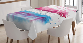 Animal  Tablecloth Lovely Flamingo and Bird Printed Table Cover