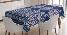 Moroccan  Tablecloth Mystic Oriental Design Printed Table Cover