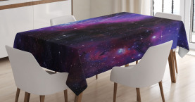 Space  Tablecloth Nebula Dark Galaxy Stars Printed Table Cover