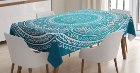 Mandala-Blumen Tischdecke