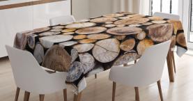 Holzscheite Eiche Tischdecke