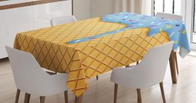 Süße Waffel Tischdecke